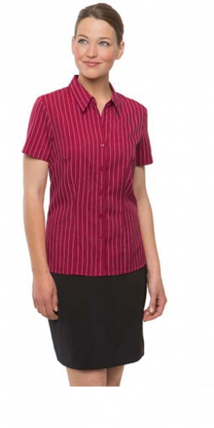 Ladies Short Sleeve Ezylin Stripe